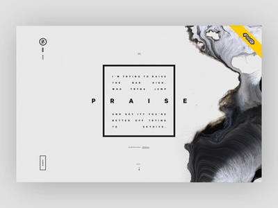 BASIC Year-In-Review Microsite Wins FWA of the Day basic abstract distortion glitch minimalism