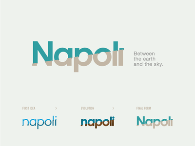 Logo Napoli - Between the earth and the sky  flag idea sky earth between flat italy brand logo napoli