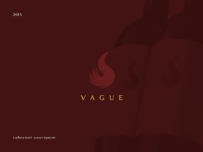 Wine bottle labels - Vague  design color minimal flat simple red bottle wine label logo brand
