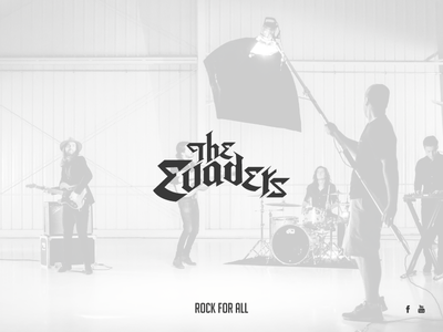 The Evaders - Rock band logo grey typography lettering rock brand logo