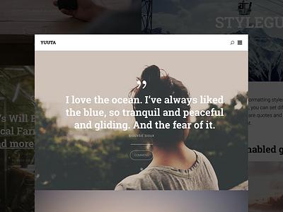Yuuta - Free WordPress Theme web design theme freebie free wordpress php css html