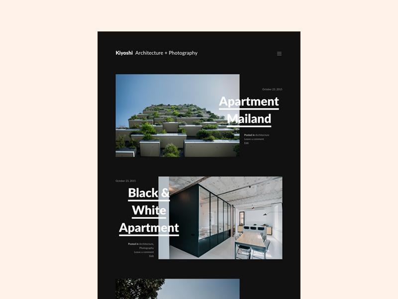 Kiyoshi - Free WordPress Theme by Felix Dorner - Dribbble
