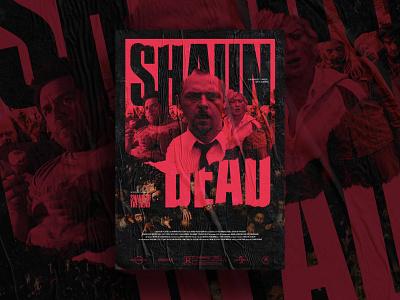 Shaun of the Dead - Mocktober elegant seagulls zombies texture movie poster art mocktober