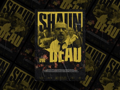 Shaun of the Dead - Mocktober elegant seagulls zombies texture movie poster art mocktober