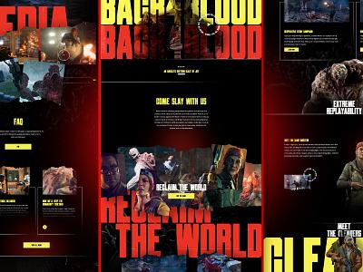 Back 4 Blood - Mocktober 21' graphic design design landing page web product site grunge typography halloween zombies video games website dark texture web design mocktober