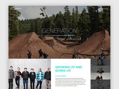 Generation: Hero blog sports dark modern gallery hero images focus lab web design blog design extreme sports