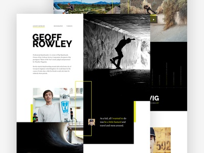 Rowley Teaser skateboarding flip dark editorial biography skating web mosaic photography web design