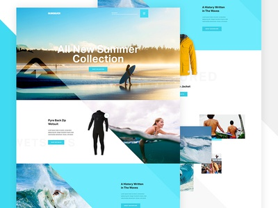 Quiksilver Preview product details grid exploded blue ocean product angle ecommerce commerce surf surfing quicksilver