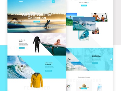 Quiksilver Full product page summer angles shopping website landing e-commerce commerce quicksilver waves surf surfing
