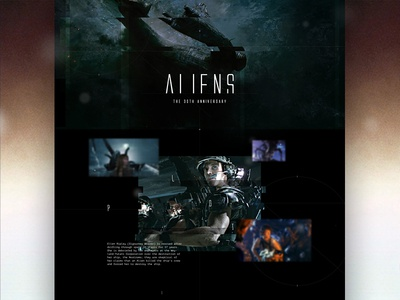 Aliens - The 30th Anniversary web layout outer space web design dark website landing page science fiction editorial space anniversary ripley movies aliens