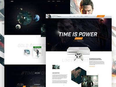 Quantum Break game commerce product page web web design microsoft motion website landing page xbox video games