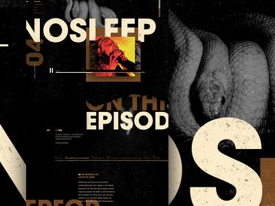 Mocktober 2018 - The No Sleep Podcast website media halloween spooky web design story textures grit dark mocktober podcast
