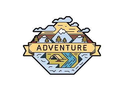 Adventure adventure illustration mountain tent campfire explore haymaker