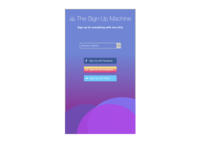 Daily UI day 001 - Sign up