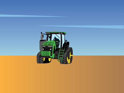 Tractor Illustration agriculture clean lines tractor farming vector illustration