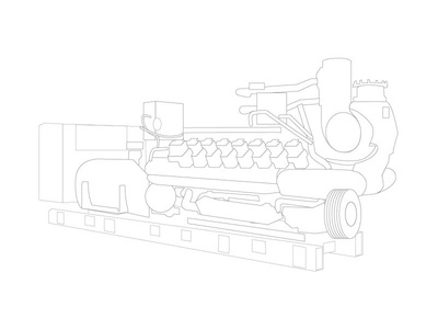 Diesel Engine for Agtech draw layout