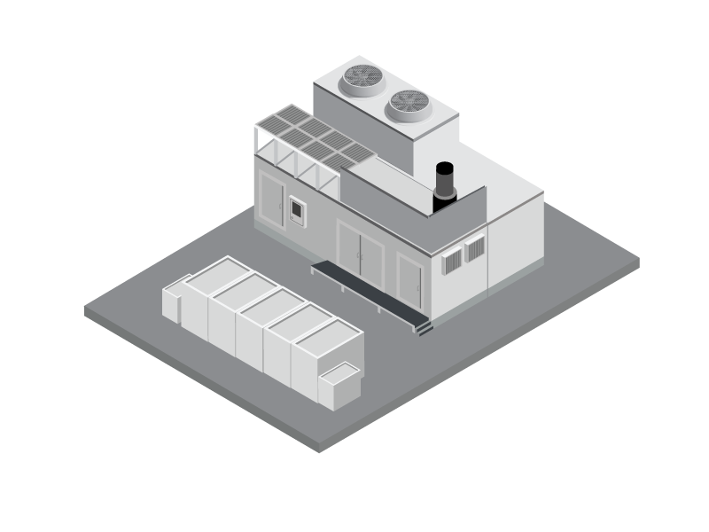Congen Power Plant illustraion isometric illustration isometric design greenenergy cogen power energy