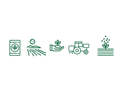 Farm Icon set agtech identity design illustration