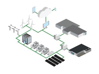 iso vector mircogrid agtech energy microgrid branding logo illustration