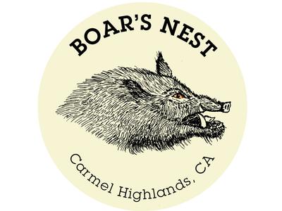 Boar sticker identity mark vector hunting hog boar illustration