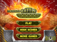"Menu game ""Defense Battle"""