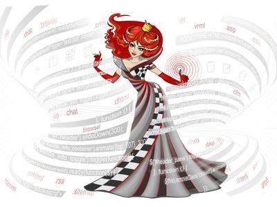 """Illustrations for the site studio """"Queen Design"""""""