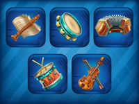 "Collection for social mobile music game ""Piano City"""