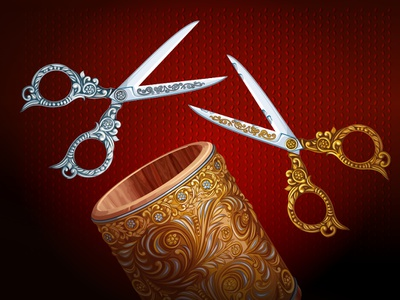 Cut the Buttons cut scissors buttons game ios apple vector freelance