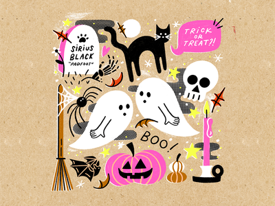 Ghost Post! 👻 stars pumpkin ghost ghosts halloween party siriusblack harrypotter orderofthephoenix halloweenillustration halloweendoodle halloween chandlettered artist boston illustrator designer design doodle illustration chandoodles