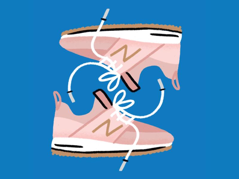 New Balance shoes newbalance doodle illustration chandoodles