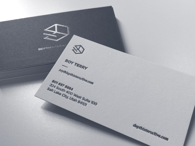 Depth Interactive Business Cards By Roy Terry Dribbble Dribbble