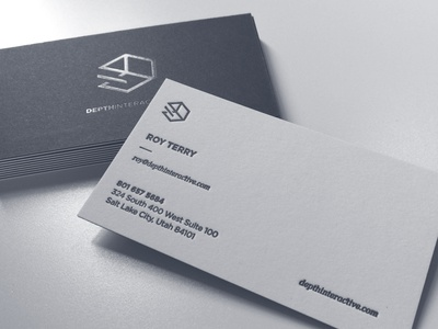 depth interactive business cards by roy terry dribbble