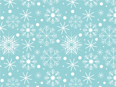 Winter Wonderland christmas winter blue custom snowflakes pattern