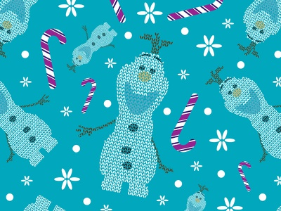 Christmas Sweater Olaf candy cane patterns blue purple pink disney christmas frozen olaf pattern