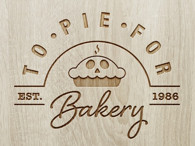 TO PIE FOR BAKERY / LOGO DESIGN branding photoshop logo design concept logo