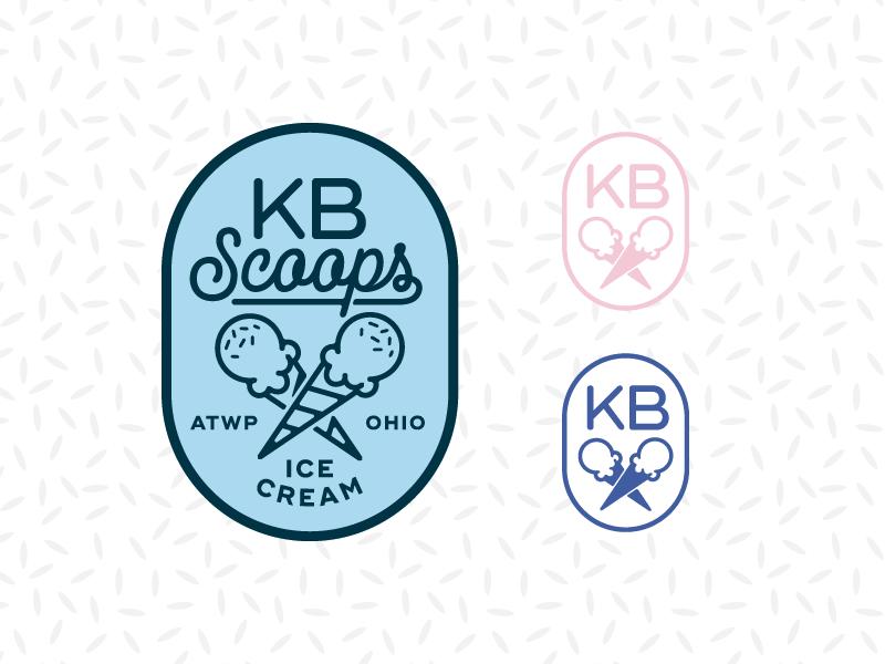 KB Scoops-Alt2 ice cream cone ice cream scoops logo