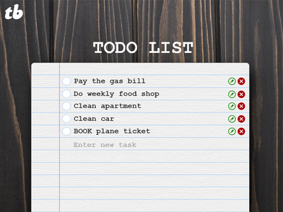 todo list web application application interface design
