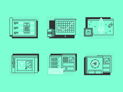 Design Process Icons illustrations line icons design process figma icons vector