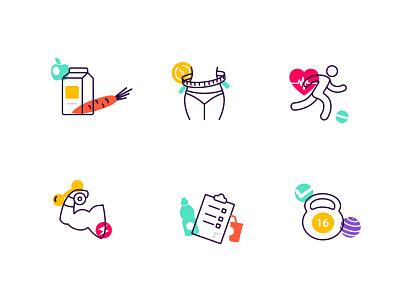 Sport&Fitness Icons ui typography vector branding fitness logo sports logo icons icon logo