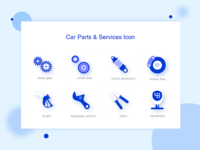 Car Parts And Service Icon I