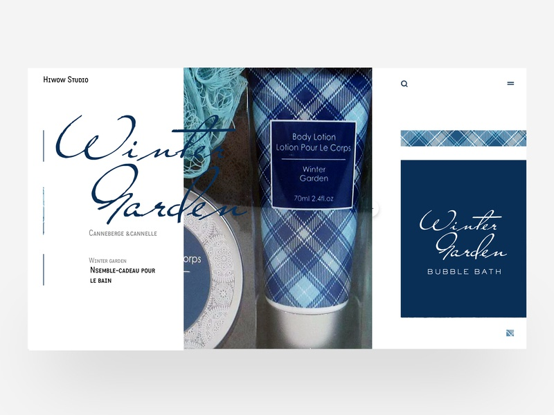 Winter garden label package branding brand design retro blue illustration
