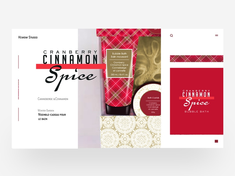 Cranberry cinnamon on spice brand package label retro logo typography illustration