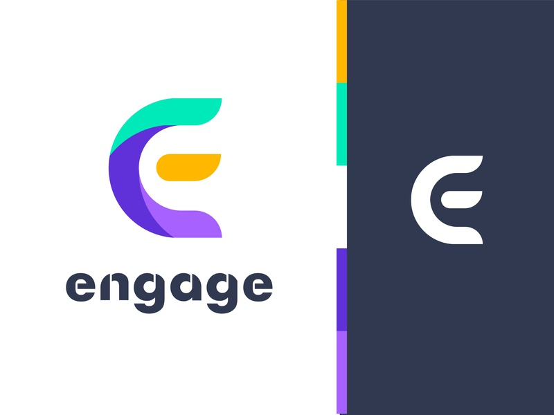 Engage logo design brand engage e web  branding master brand family logo mark design ios app iconography color exploration icons brand book grid app store icon