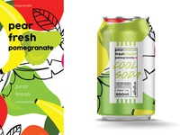 Cool soda  | Pear fresh pomegranate