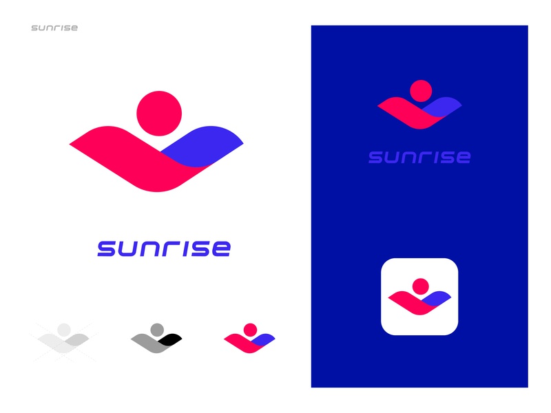Sunrise Logo Design logodesign vector illustration sunrise branding ui design logo blue brand