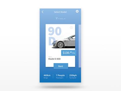 Rent user interface ui mobile mobile app mobile design rent app tesla