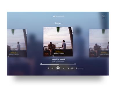 Discover gradients. desktop. music fullscreen television discover music player soundcloud