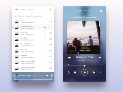 Discover Mobile ux ui music app soundcloud discover mobile music