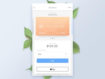 Checkout  cards credit card light theme light ui ux ui shop ecommerce checkout mobile