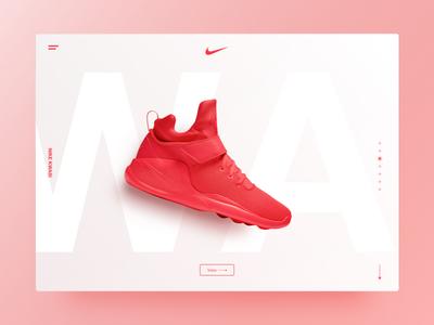 Nike Kwasi – Landing Page V2 e-commerce modern white red ui desktop web page landing landing page shoe nike